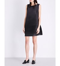 Issey Miyake Pleats Please Alt Glaze Pleated Dress Black