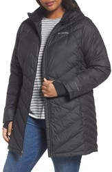 Columbia Plus Size Heavenly Water Resistant Insulated Long Hooded Jacket Black
