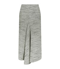 Victoria Beckham Boucle Midi Skirt Female Grey