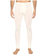 Hanro Woolen Silk Long Underwear Cygne Men's Underwear White