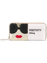 Alice Olivia 'Positivity' Wallet Nude And Neutrals