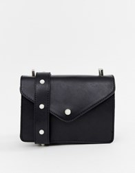 Pieces Dolla Cross Body Bag With Pearl Strap Black