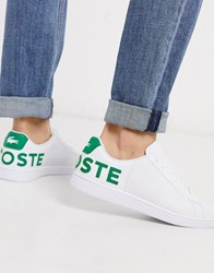 Lacoste Carnaby Evo Trainers With Green Logo White