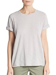 Vince Cotton Rolled Sleeve Tee Cenere