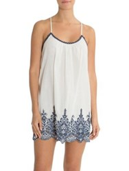 In Bloom Loving Hands Cotton Chemise Ivory Navy