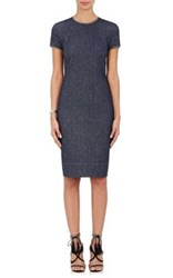 Armani Women's Denim Fitted Sheath Dress Blue
