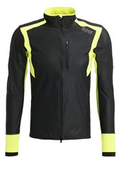 Gore Running Wear Air Sports Jacket Black Neon Yellow