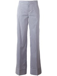 Dsquared2 Pinstripe Wide Trousers Blue