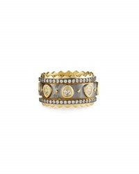 Freida Rothman Crown Pave Crystal Stacking Rings Multi