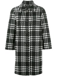 Marc Jacobs Check Jacquard Buttoned Coat Black