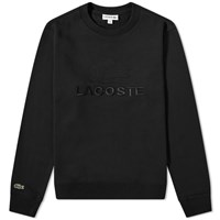 Lacoste Embroidered Logo Crew Sweat Black