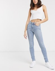 Weekday Thursday Slim Fit High Rise Jeans Blue