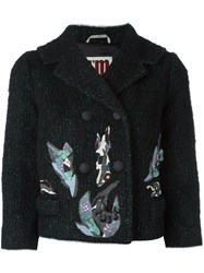 I'm Isola Marras Patch Detail Cropped Jacket Black