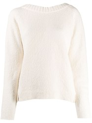 Semicouture Round Neck Jumper White