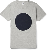 Nn.07 Printed Cotton Jersey T Shirt Gray