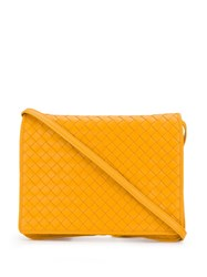Bottega Veneta Intrecciato Messenger Bag Yellow