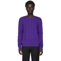 Ralph Lauren Purple Label Cashmere Cable Knit Sweater