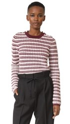 Carven Long Sleeve Pullover Bordeaux Rose