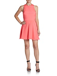 Naven Cross Back Fit And Flare Dress Neon