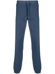 Sun 68 Ribbed Cuff Tracksuit Bottoms Blue