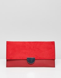 New Look Clutch Bag Bright Red