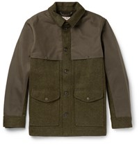 Filson Filon Panelled Virgin Wool And Cotton Canva Field Jacket Green