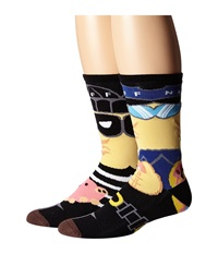 Neff Cop N' Robber Socks Black Men's Crew Cut Socks Shoes