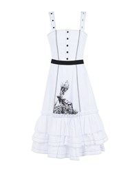 I'm Isola Marras Knee Length Dresses White