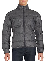 Hawke And Co Long Sleeve Puffer Jacket Grey