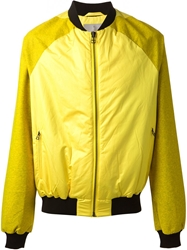 Adidas Slvr Zipped Bomber Jacket Yellow And Orange