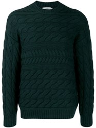 Closed Cable Knit Jumper Grey