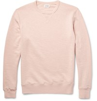 Hartford Loopback Cotton Jersey Sweatshirt Pastel Pink