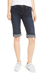 Hudson Jeans Amelia Cuffed Denim Knee Shorts Dhyana