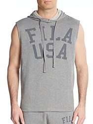 Fila Gym Rat Sleeveless Hoodie Varsity Heather