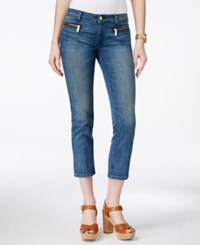 Michael Michael Kors Zip Pocket Cropped Skinny Jeans