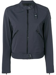 Blauer Zip Cropped Jacket Blue