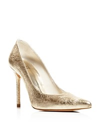 Stuart Weitzman Pointed Toe Evening Pumps Nouveau High Heel Cava