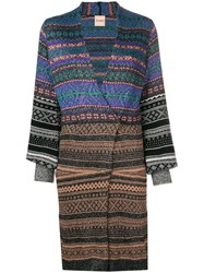 Nude Knitted Wrap Dress Black