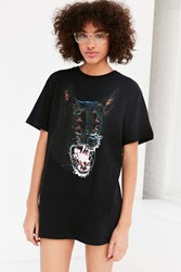 Urban Outfitters Growling Dog Tee Black