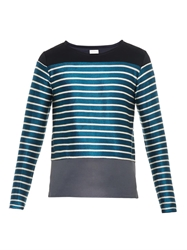 Paul Smith Woven Stripe And Jersey Panel Sweater