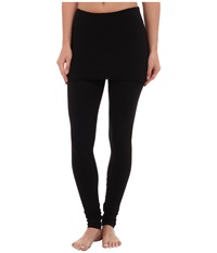 Splendid Jersey Legging W Oversized Foldover Waist Black Women's Clothing