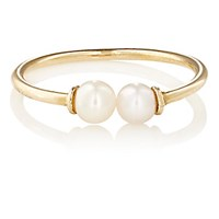 Loren Stewart Women's White Pearl And Yellow Gold Open Band Ring No Color