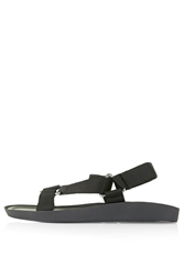 Topshop Hitch Sporty Sandals Black