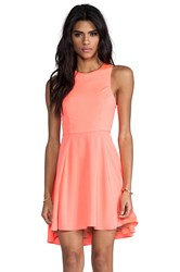 Naven Exclusive Jackie Circle Skirt Dress Coral