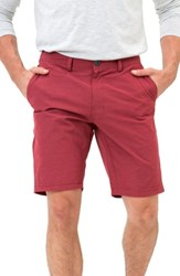 7 Diamonds Men's Hybrid Shorts Brick Red