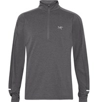Arc'teryx Cormac Stretch Jersey Half Zip Top Dark Gray