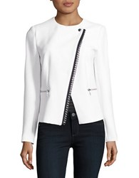Michael Kors Embellished Asymmetrical Jacket White