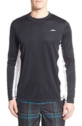 Men's Speedo 'Longview' Long Sleeve Swim Shirt Speedo Black