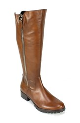Women's Summit By White Mountain 'Becky' Side Zip Tall Boot Brown Leather