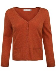 Seasalt Cathedral V Neck Cardigan Rust